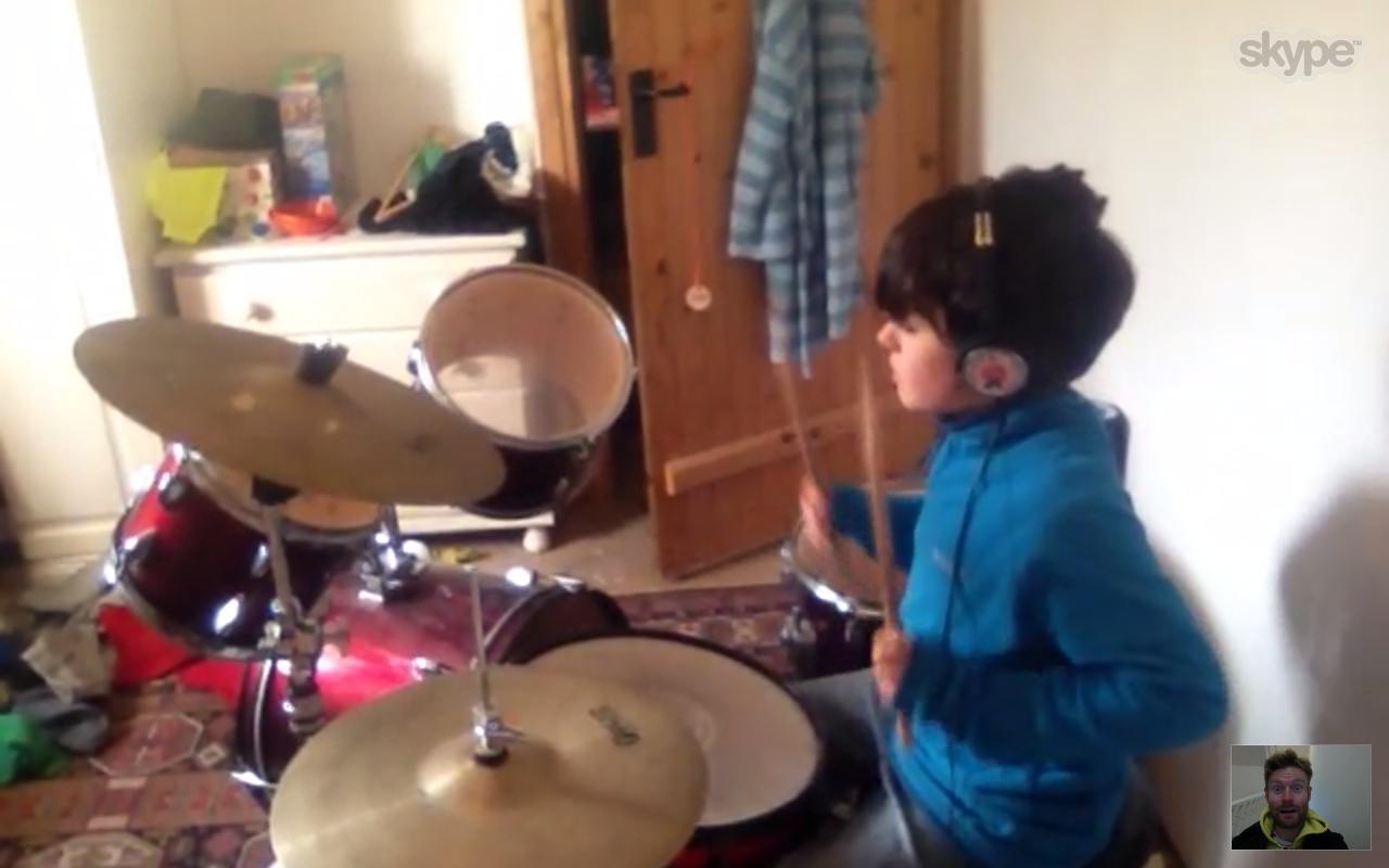 skype drum lessons